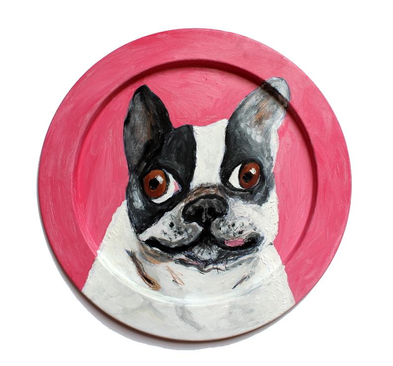 FrenchBulldog plate